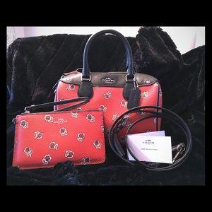 NWT COACH Sienna Rose Bennett Bag w/Phone Wristlet